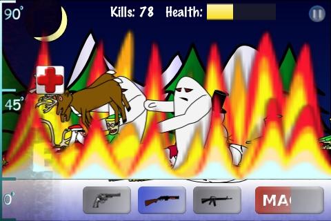 Screenshot Santa vs Zombies